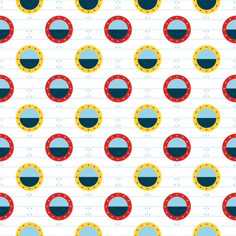 port-hole polka-dot fabric by sef on Spoonflower - custom fabric