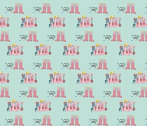 Garden Time fabric by karenharveycox on Spoonflower - custom fabric
