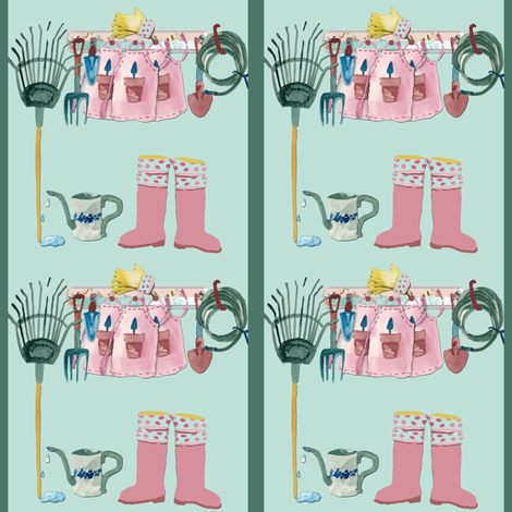 Garden Shed fabric by karenharveycox on Spoonflower - custom fabric