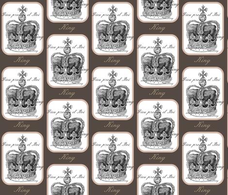 Chess King fabric by walkwithmagistudio on Spoonflower - custom fabric
