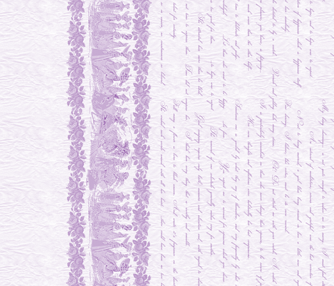 Jane Austin Says Border Print  in African Violet fabric by miart on Spoonflower - custom fabric