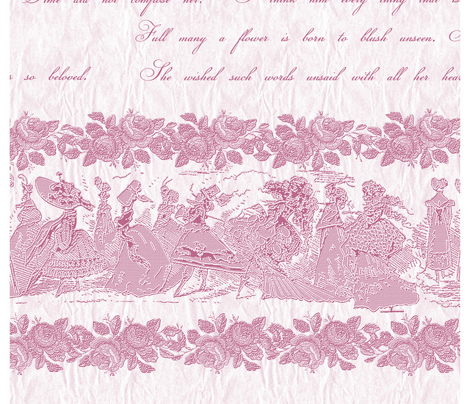 Jane Austin Says Border Print in Rose