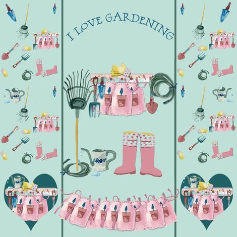I love Gardening fabric by karenharveycox on Spoonflower - custom fabric