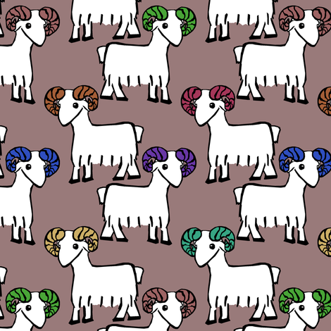 Goats fabric by pond_ripple on Spoonflower - custom fabric