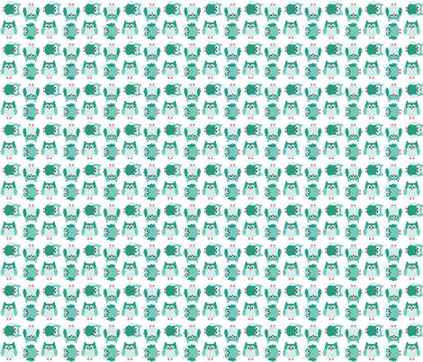 Owl so green fabric by pieke_wieke on Spoonflower - custom fabric