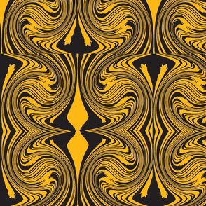 black n gold swirl