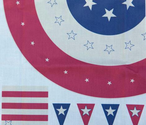"Retro Americana 54"" Round Tablecloth"