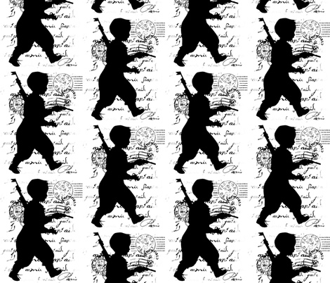 Army boy fabric by walkwithmagistudio on Spoonflower - custom fabric