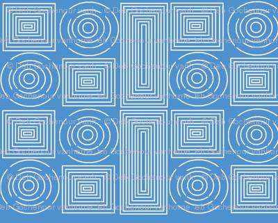 color me white on blue spirals