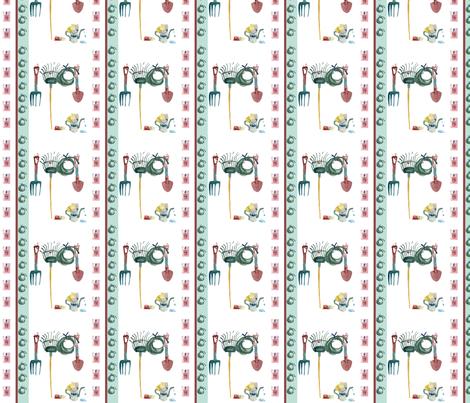 Garden Seeds Stripe fabric by karenharveycox on Spoonflower - custom fabric