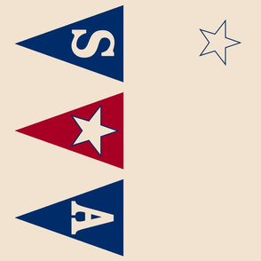 "Retro Americana 58"" Rectangle TableCloth"