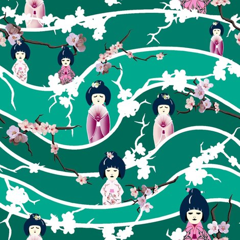 Rrstripe_wave_jade_white_blossoms_and_dolls_shop_preview