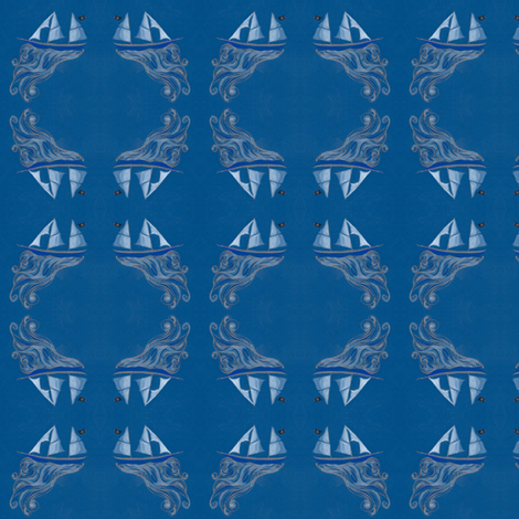 pirate ship fabric by vonblohn on Spoonflower - custom fabric