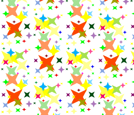Stars fabric by retroretro on Spoonflower - custom fabric