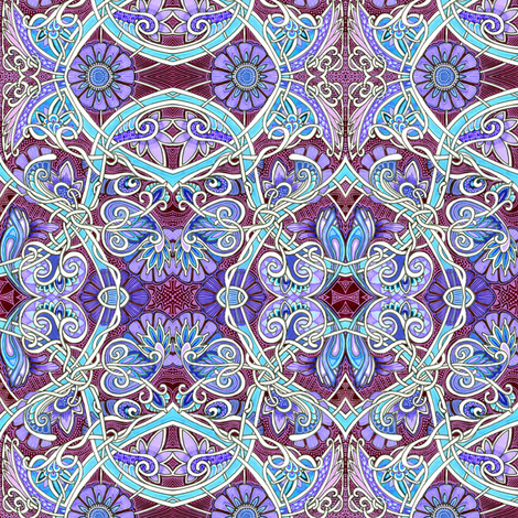 A Dark and Moonlit Tangle of Paisley Vines fabric by edsel2084 on Spoonflower - custom fabric