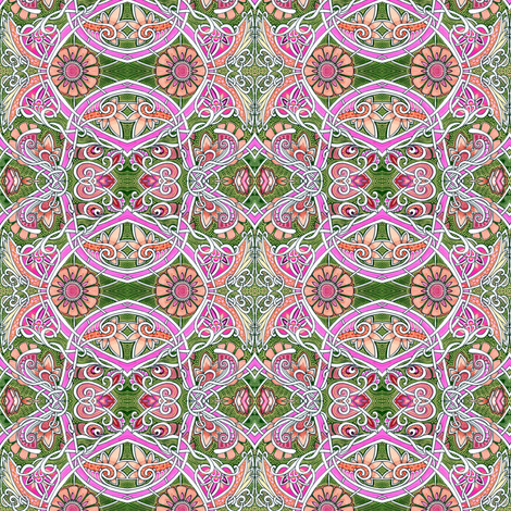 Sugar and Spice and Hearts and Flowers fabric by edsel2084 on Spoonflower - custom fabric