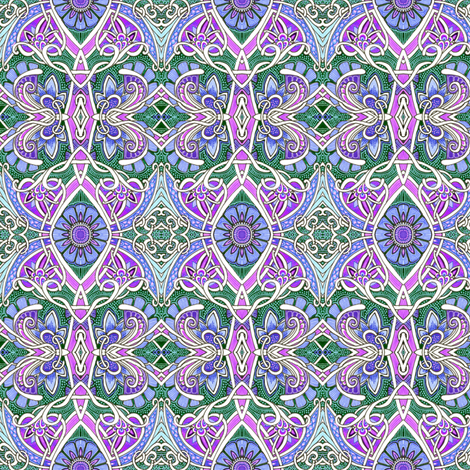 Flower of Gothic fabric by edsel2084 on Spoonflower - custom fabric