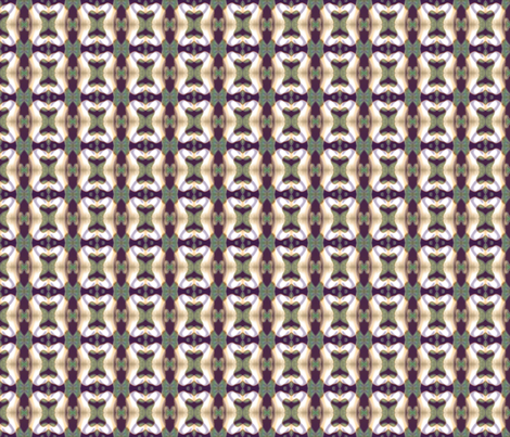 White Ribbons on Green and Purple fabric by elramsay on Spoonflower - custom fabric