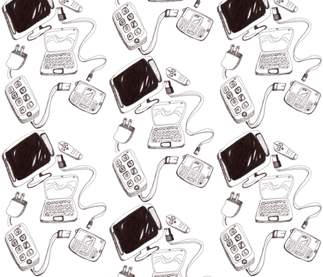Plugged In 2 fabric by kcs on Spoonflower - custom fabric