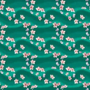 Scattered Blossoms on Jade by Sylvie