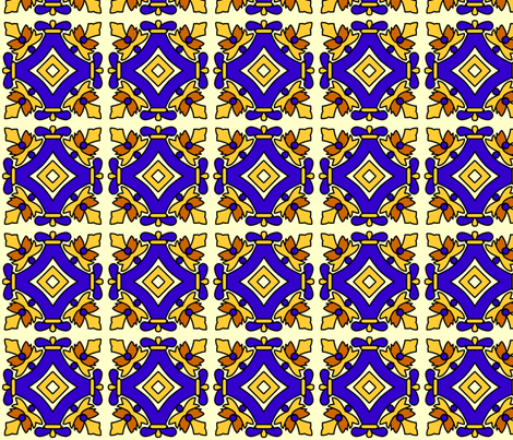 Mexican tiles squares fabric by spacefem on Spoonflower - custom fabric