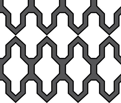 Facet_Black fabric by crisbucknall on Spoonflower - custom fabric