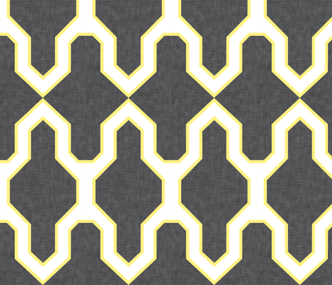 Facet_Citron fabric by crisbucknall on Spoonflower - custom fabric