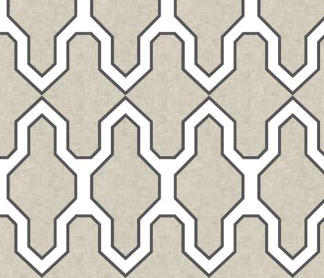 Facet_Linen fabric by crisbucknall on Spoonflower - custom fabric