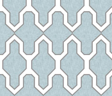 Facet_Bird's_Egg fabric by crisbucknall on Spoonflower - custom fabric