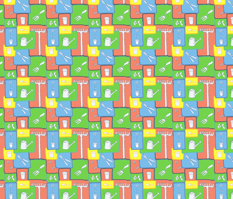In an April garden fabric by sten on Spoonflower - custom fabric