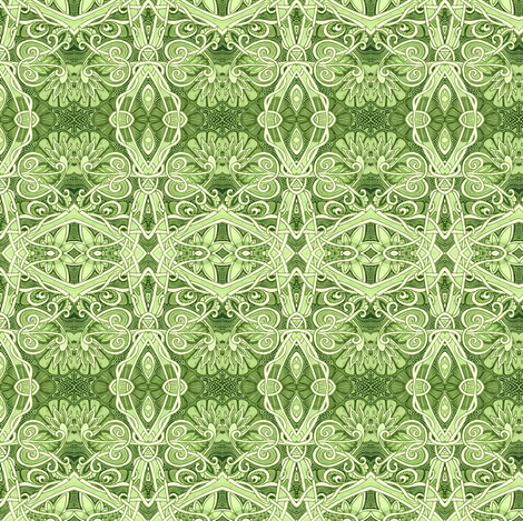 In Spring the Entire World Goes Green fabric by edsel2084 on Spoonflower - custom fabric
