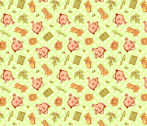 sweet garden fabric by vardaart on Spoonflower - custom fabric