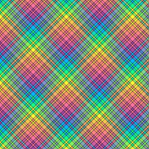 Rainbow Plaid 01