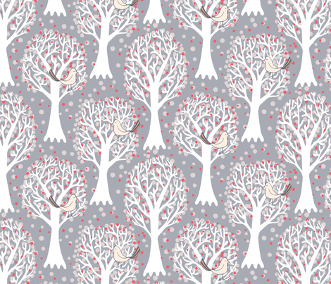 trees fabric by kezia on Spoonflower - custom fabric
