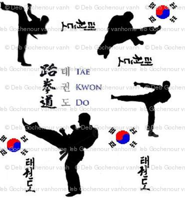 taekwondo large print
