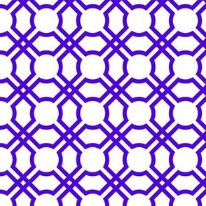 Geometric Tiles in Blue