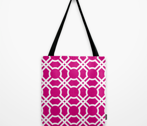 Geometric Tiles in Plum