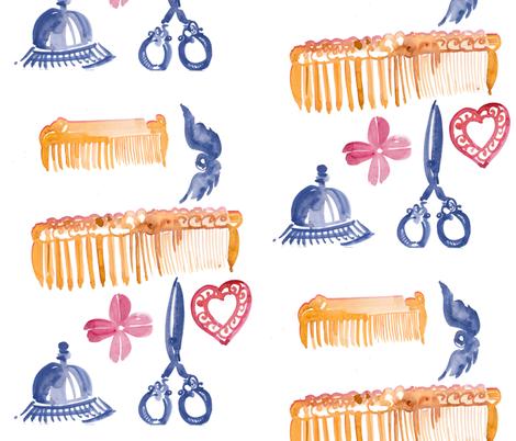 cestlaviv_somefinds fabric by @vivsbeautifulmess on Spoonflower - custom fabric