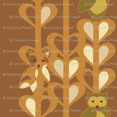 Owls in Olive