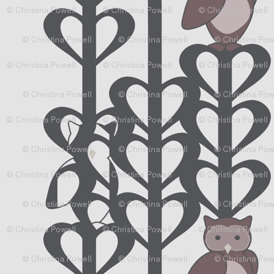 Owls in Mauve