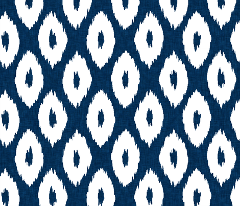 Ikat_Polka_Dot_Navy fabric by crisbucknall on Spoonflower - custom fabric