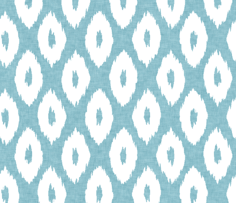 Ikat_Polka_Dot_Aqua fabric by crisbucknall on Spoonflower - custom fabric