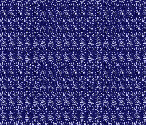 martial_arts_whiteonblue fabric by dsa_designs on Spoonflower - custom fabric