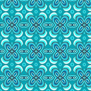 seafoam blue flowers bandana 5