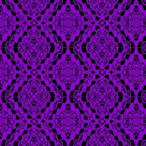 Purple flower lace bandana fabric by dk_designs on Spoonflower - custom fabric
