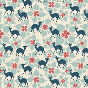 Flower and deer