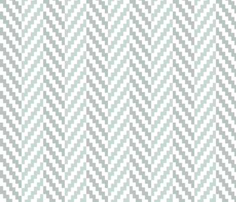 Aztec_Chevron_Bird's_Egg fabric by crisbucknall on Spoonflower - custom fabric