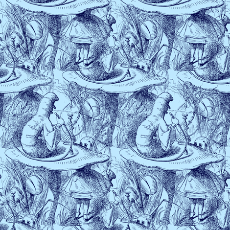 Exactly Three Inches High! Alice  fabric by peacoquettedesigns on Spoonflower - custom fabric