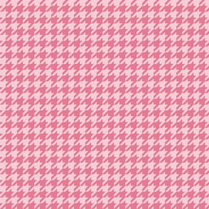 The Houndstooth Check ~ Pink Dawn
