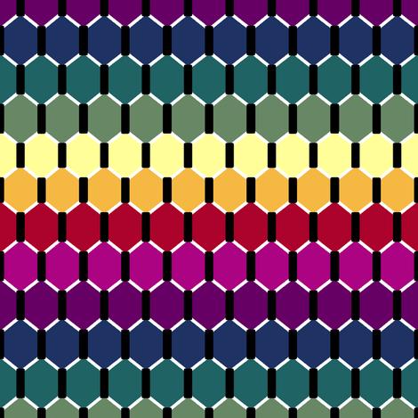 Rainbow Hex fabric by pond_ripple on Spoonflower - custom fabric